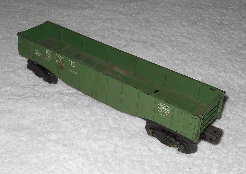 Lionel - NYC Open Top Freight Car - #6462 - O Scale - Green - Vintage