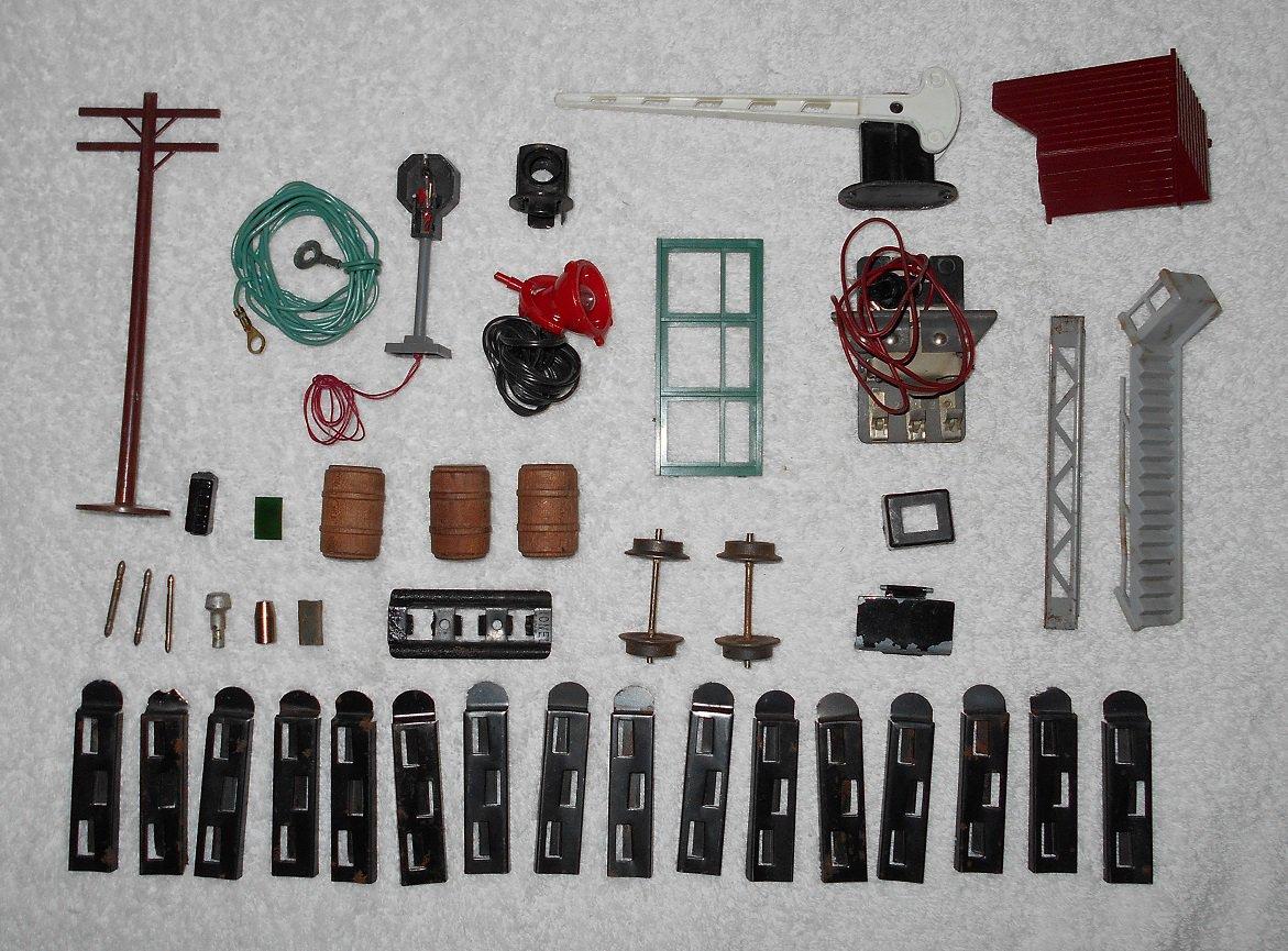 Model Train Parts & Accessories - 43 Piece Collection - Vintage