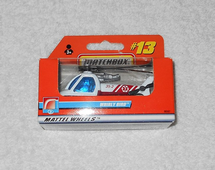 Matchbox - Whirly Bird Helicopter - #13 - White - 1999 - New