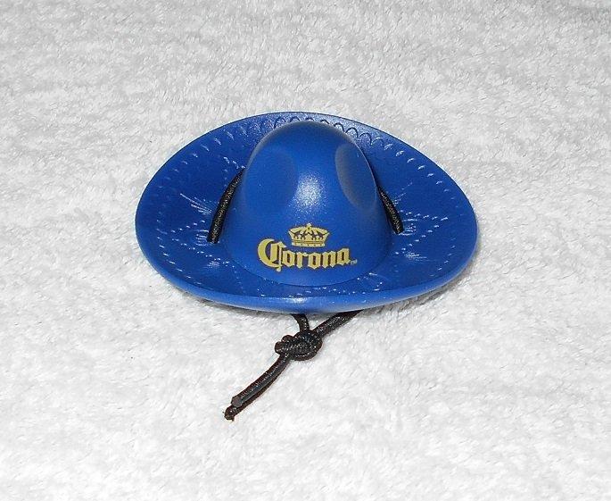 Corona - Sombrero Shaped Bottle Opener - Blue Plastic - New
