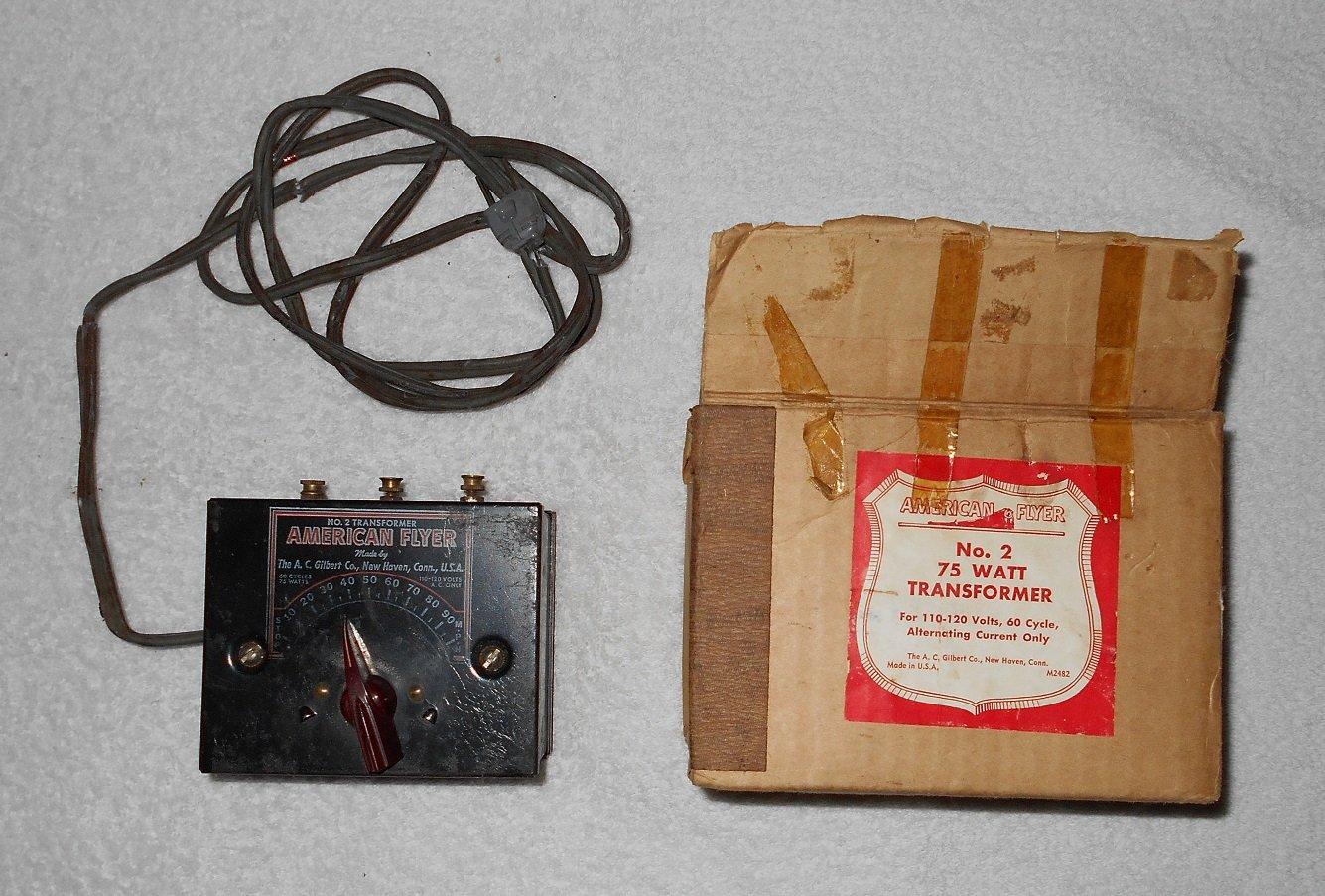 American Flyer - #2 - Transformer - 75 Watt - Includes Original Box - Vintage
