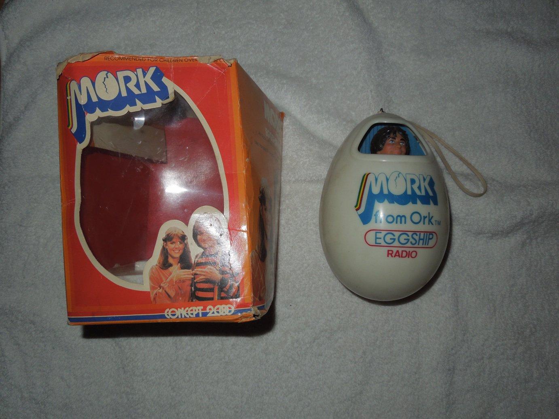Mork From Ork Eggship Radio - Concept 2000 - Includes Original Box - 1979 - Needs Repair