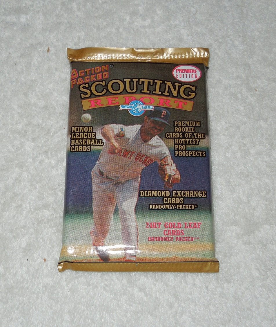 Action Packed Scouting Report - New, Unopened Pack Of Minor League Baseball Cards - 1994