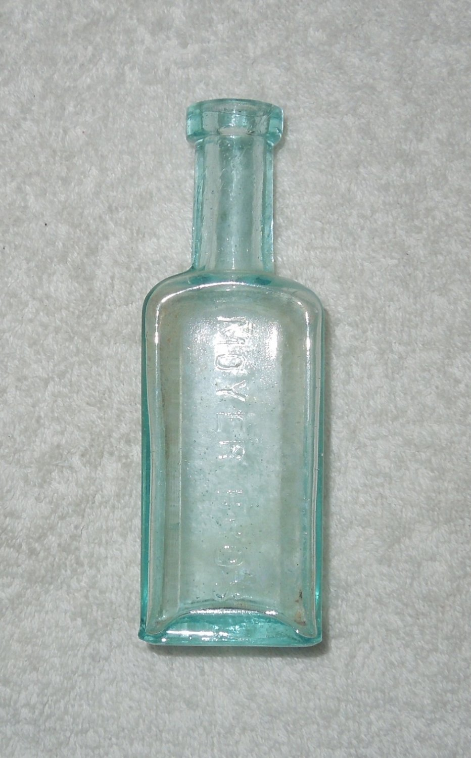 Moyer Bros - Clear Blue Glass Bottle - Small - Cork Missing - Bloomsburg