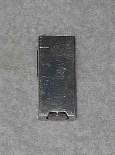 Side Cylinder Spark Wheel Lighter - Flip Top Lid - Stainless Steel