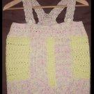 Designer  S. Alaksa    Pink & Yellow handknit tank
