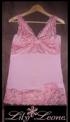Pink lace tank