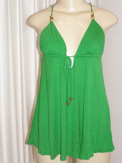 Lotta Stensson celebrity green spaghetti strap top