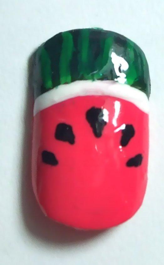 Watermelon Nails - Full Watermelon