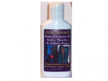 VITAL THERAPY PAIN RELIEVING COPPER CREAM - 4oz/120g