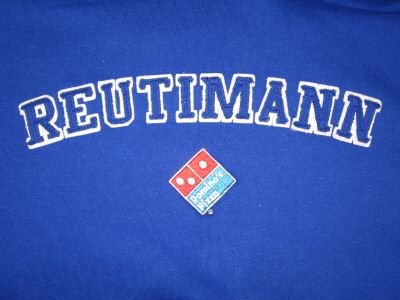 DAVID REUTIMANN 2007 DOMINOS'S PIZZA #00 NASCAR HOODY HOODIE XXL