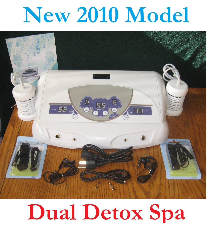 NEW DUAL ION DETOX FOOT BATH CELL AQUA CHI SPA IONIC CLEANSE MP3