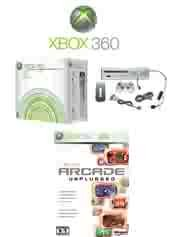 "Xbox 360 ""Premium Gold Pack"" Video Game System with 6 of the Coolest Games !!!"