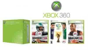 """Xbox 360 """"Core Sports Bundle"""" Video Game System With 3 Games"""