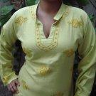 Yellow cotton fashion designer tunics