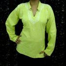 Fluorescent cotton tunics/top