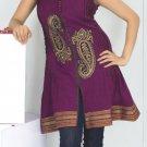 Fashion cotton dot tunic with beads work