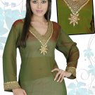 Georgette Kurti / Tunic with embroidery and sequence work