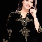 Black Cotton Tunic with 3/4th sleeve Ladies for casual wear