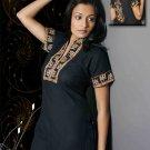 women cotton black collar Neck Tunic/top