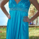 Lovely turquoise blue dress Satin Evening Party Cocktail Bridesmaid Prom Dress