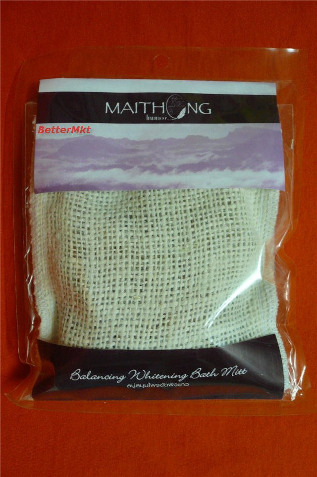 Reduce Black Spots Balances Skin Tone Spa Soap Maithong Balancing Whitening Bath Mitt