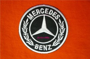 Mercedes Benz RACING MOTOR CAR LOGO Sew Iron on Patch
