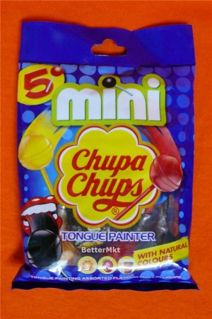 5 Mini Chupa Chups TONGUE PAINTER LOLLIPOPS FAT FREE Assorted Flavour