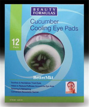 Cucumber Cooling Eye Pads Relieve Revitalize Tired Eyes Reduce Puffy Eyes Dark