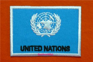 United Nations UN Flag Embroidered Applique Badge Sewing Iron on Patch