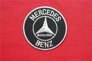 MERCEDES BENZ Auto Car Automotive Round Logo Embroidered Applique Badge Sewing Iron on Patch