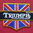 TRIUMPH UNION JACK Motorcycle Bike Racing Logo Embroidered Sewing Iron on Patch
