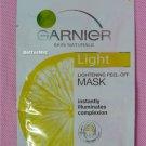 Garnier Skin Natural LIGHT Lightening Peef-off MASK Anti-Dull Brighter Face Skin