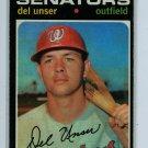 1971 Topps Baseball #33 Del Unser Senators VG/EX