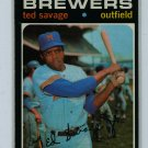 1971 Topps Baseball #76 Ted Savage Brewers EXMT