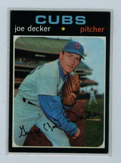 1971 Topps Baseball #98 Joe Decker Cubs EXMT/NM