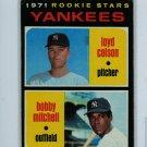 1971 Topps Baseball #111 Colson/Mitchell Yankees EX
