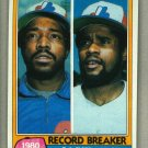1981 Topps Baseball #204 LeFlore/Scott Expos Record Breaker Pack Fresh
