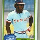 1981 Topps Baseball #283 Billy Sample Rangers Pack Fresh