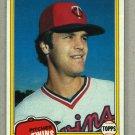 1981 Topps Baseball #603 John Verhoeven Twins Pack Fresh