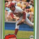 1981 Topps Baseball #712 Bill Bonham Reds Pack Fresh