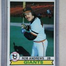 1979 Topps Baseball #34 Rob Andrews Giants Pack Fresh