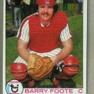 1979 Topps Baseball #161 Barry Foote Phillies Pack Fresh