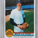 1979 Topps Baseball #202 Ron Guidry Yankees Record Breaker Pack Fresh