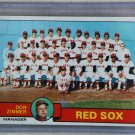 1979 Topps Baseball #214 Red Sox Team Checklist Pack Fresh