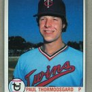 1979 Topps Baseball #249 Paul Thormodsgard Twins Pack Fresh