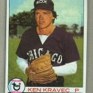 1979 Topps Baseball #283 Ken Kravec White Sox Pack Fresh