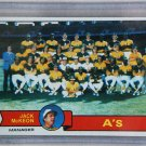 1979 Topps Baseball #328 A's Team Checklist Pack Fresh