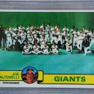 1979 Topps Baseball #356 Giants Team Checklist Pack Fresh