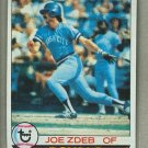 1979 Topps Baseball #389 Joe Zdeb Royals Pack Fresh